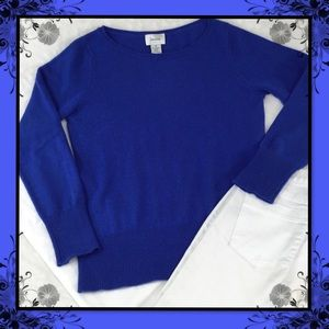 NEIMAN MARCUS CASHMERE ROYAL BLUE SWEATER M